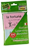 FlashSticks® Italian Flash Cards for Beginners | Best Way to Learn to Speak Italian | No Language Courses Needed | 100 Basic Vocabulary Study Cards Make Learning a Game | Free Online App Helps With Pronunciation | Perfect For Adults & Kids