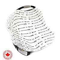 Ultrasoft Multi-Use Stretchy Baby Car Seat Canopy, Nursing Cover, High Chair ...
