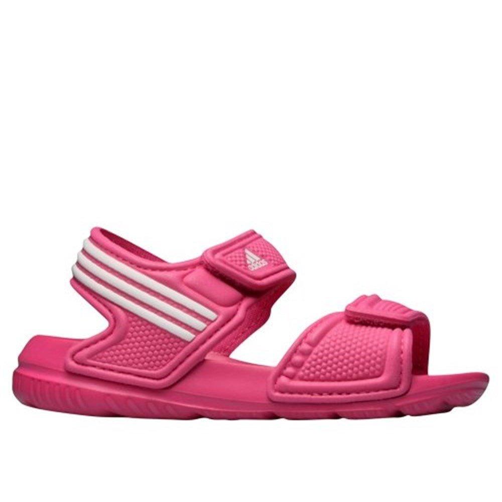 adidas Performance Unisex-Kinder Akwah 9 K Dusch-& Badeschuhe, Pink (EQT Pink S16/Ftwr White/FTWR White), 33 EU