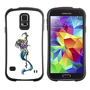 Paccase / Suave TPU GEL Caso Carcasa de Protección Funda para - Death Reaper Character White - Samsung Galaxy S5 SM-G900