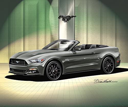 2015 Ford Mustang Gt Convertible – ガード – アートプリントポスターby Artistダニー・Whitfield 24 x 36