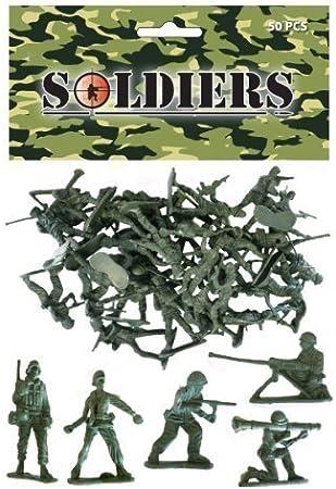 Pack de 30 soldados de juguete de plástico - Regalo, precio ...