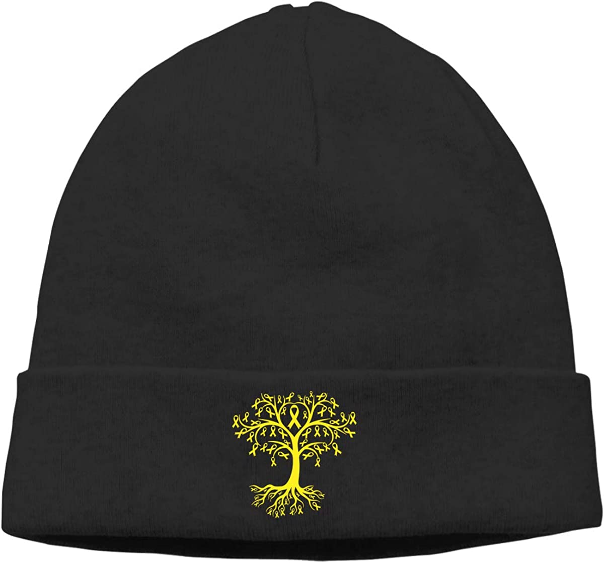Bladder Cancer Awareness Tree Roots Men Womens Solid Color Beanie Hat Stretchy /& Soft Winter Cap Thin