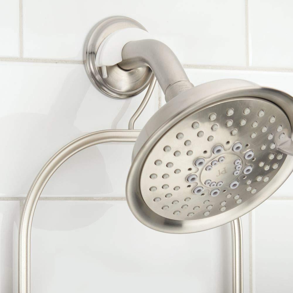 rasoi etc mDesign Portaoggetti per doccia da appendere in metallo Ideale per accessori per doccia come shampoo Argento opaco Pratica mensola doccia da montare senza trapanare