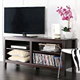 WE Furniture 58in Wood TV Stand Storage Console, Espresso