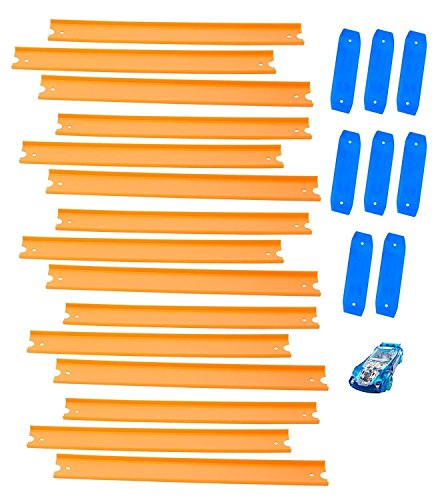Hot Wheels Track Builder Straight Includes 15 Feet of Track and Bonus Car, Styles May Vary - Hot Wheels Cool Cars