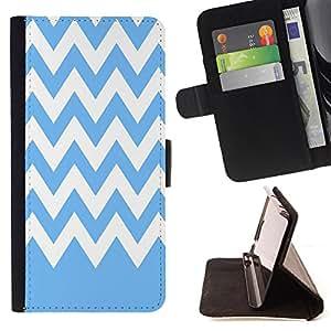 Dragon Case - FOR Samsung Galaxy S5 Mini, SM-G800 - Blue and white stripes - Caja de la carpeta del caso en folio de cuero del tir¨®n de la cubierta protectora Shell