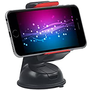 Promate Car Holder Mount for Smartphones and GPS - Red