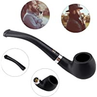 Portable Wooden Tobacco Pipes, Vintage Smoking Pipe Tool Tobacco Cigar Pipes for Durable New Gift