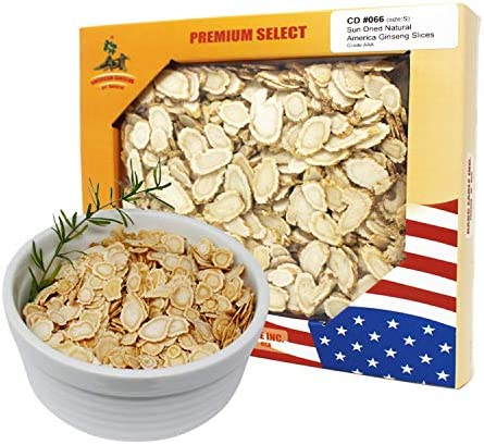 DOL American Ginseng Slice 4oz Box from Wisconsin Sliced Ginseng Root 113g Box
