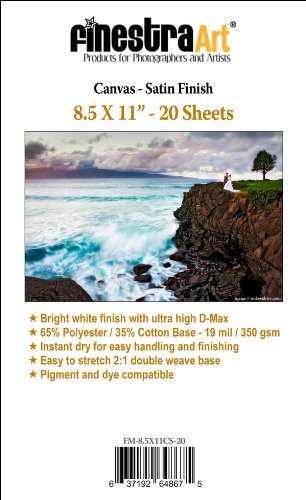 "8.5""X11"" Satin Canvas Easy Stretch Inkjet Media [Office Product]"