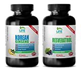 Product review for male libido enhancement - KOREAN GINSENG – RESVERATROL - COMBO - red maca organic - 2 Bottles - (60+60 Capsules)