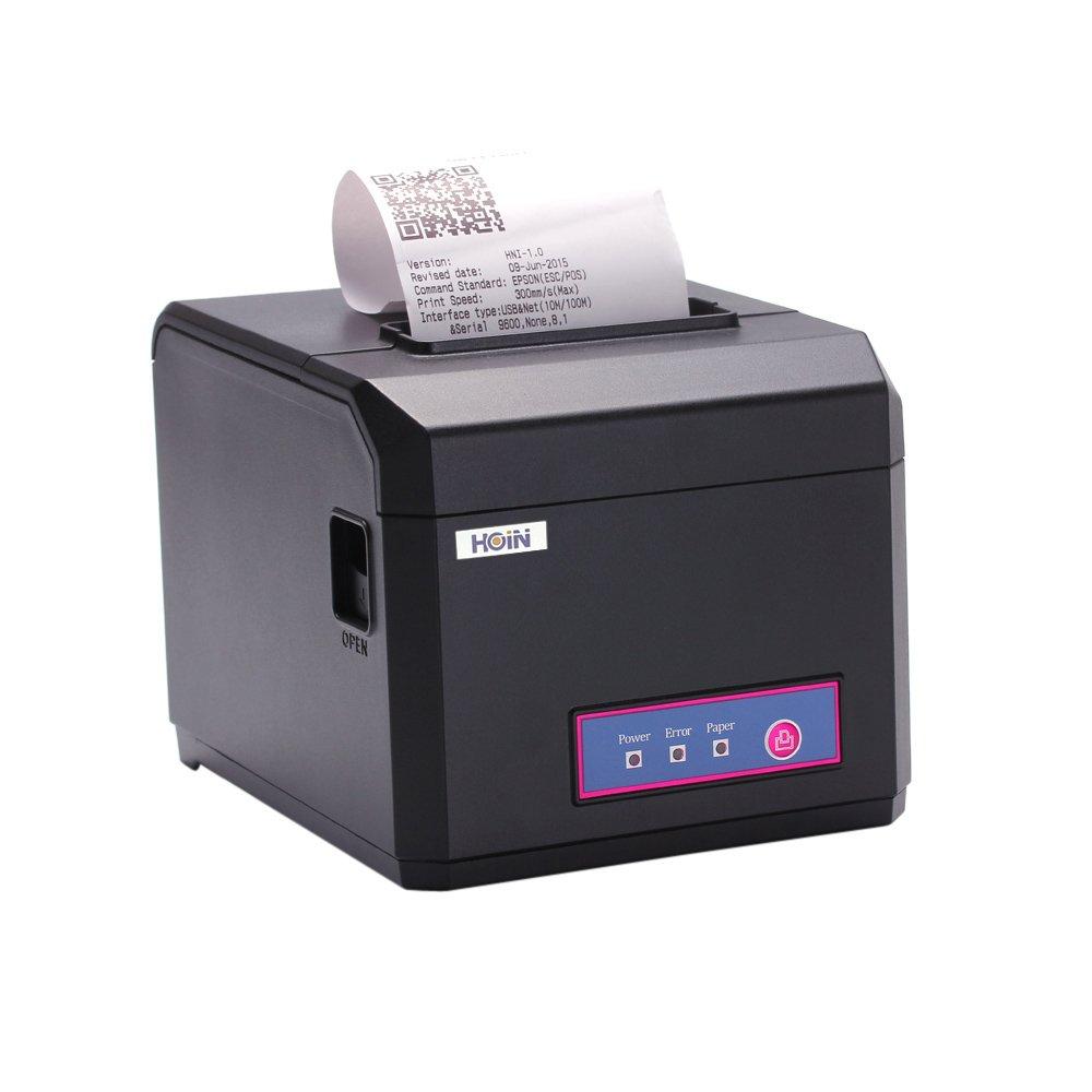 Hoin Ad alta velocità 80mm e 58mm POS Dot carta per ricevute codici a barre stampante termica USB + COM + LAN porta 300mm/s per market Bank Ristorante Bar Hion