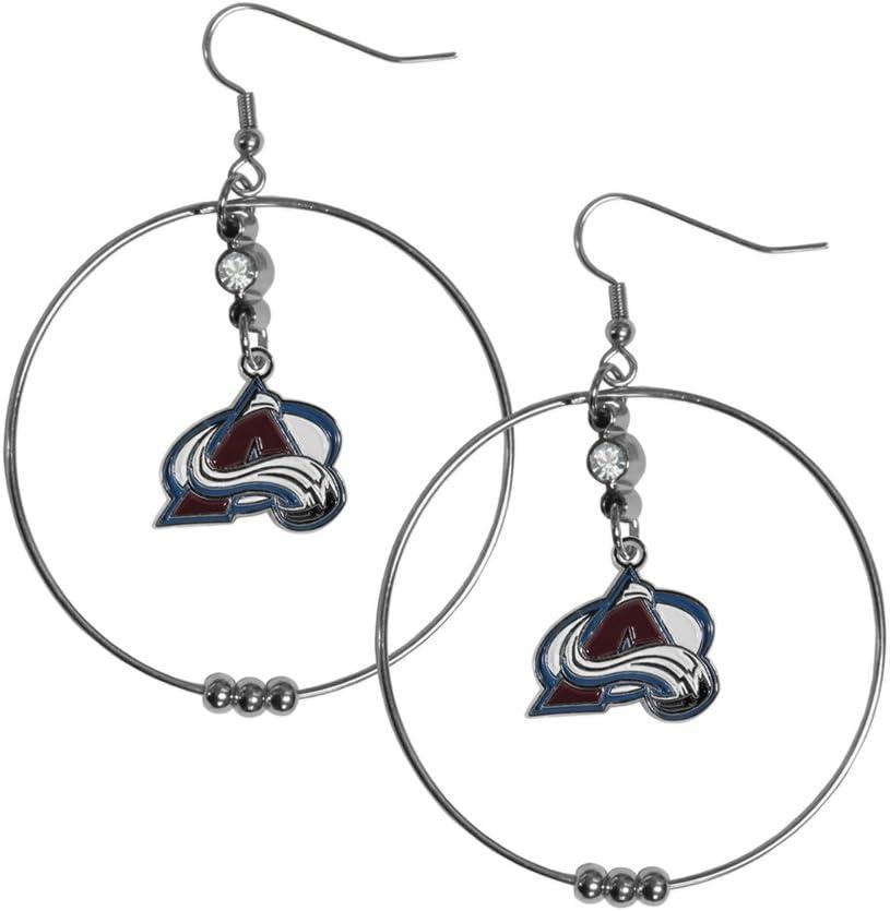 Siskiyou NHL Womens NHL 2 Inch Hoop Earrings