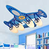 Children Bedroom Lights Protection Eye LED Creativeremote Control Aircraft Lights Ceiling Lamps ( Color : Fourhead )