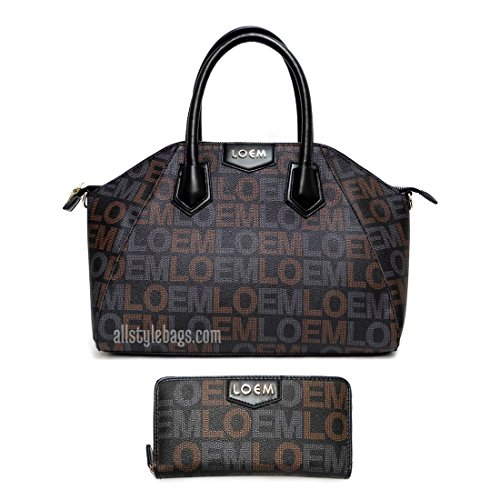 Designer LOEM signature Print shoulder boxer l wallet Bag set golden logo