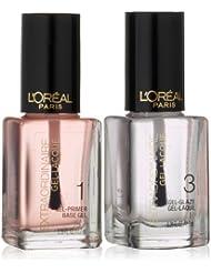 L'Oreal Paris Extraordinaire Gel-Lacque 1-2-3 Nail Color Kit 0.39 FL.OZ/11.7 x 2
