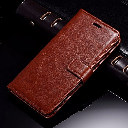 100% authentic d1d33 417dd Thinkzy Artificial Leather Flip Cover Case for Oppo A57 - Brown