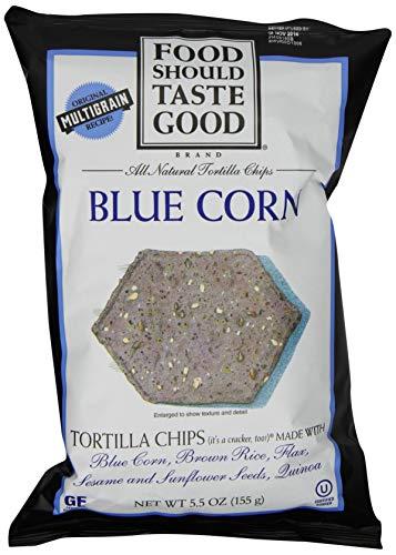 Food Should Taste Good, Tortilla Chips, Blue Corn, Gluten Free Chips, 5.5 oz (Best Baked Tortilla Chips)