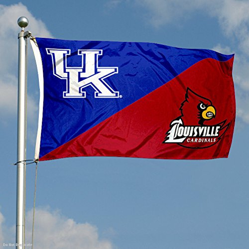 College Flags and Banners Co Louisville House Divided 3x5 Flag Kentucky vs