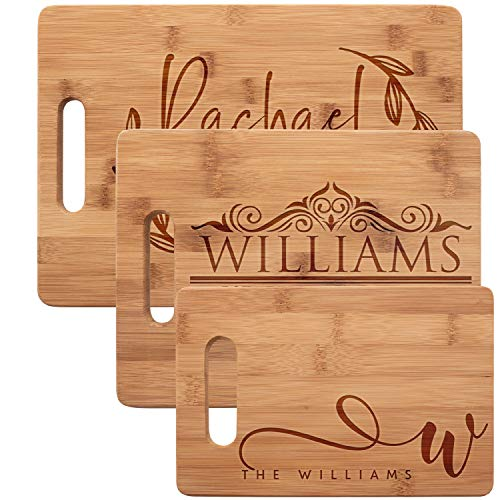 Personalized Cutting Board, Bamboo Cutting Board - Personalized Gifts - Wedding Gifts for the Couple, Engagement Gifts, Gift for Parents, Real Estate Agent Closing Gifts ()