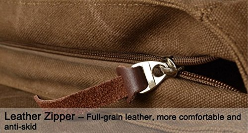 Lalagen Cotton Canvas Retro Field Small Messenger Bag Coffee by Lalagen (Image #3)