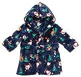 Boys/Kids Soft Plush Fleece Dressing Gowns/Bathrobes Snuggle Cosy Warm Gift