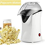 Popcorn Machine, Popcorn Maker, 1200W Hot Air Popcorn Popper Healthy Machine No Oil Needed with Wide Mouth Design