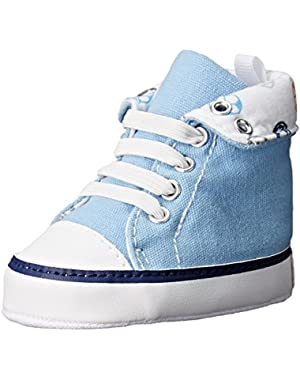 Med Blue Rollover Hightop Sneaker (Infant)