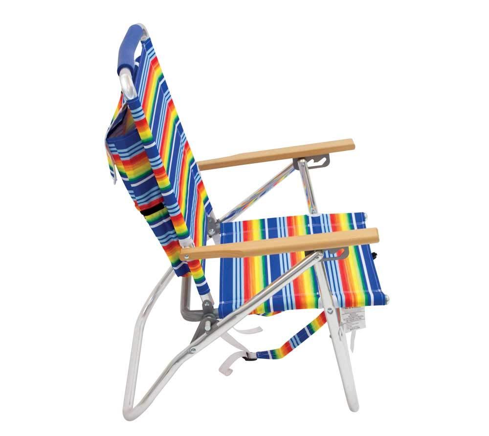 Rio Brands Gartenstuhl Strandstuhl Rucksackstuhl Campingstuhl Angelstuhl Klappstuhl robust und praktisch mit Rucksackfunktion multifarben bunt