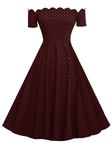 acevog-women-vintage-50s-short-sleeve-rockabilly-swing-a-line-dress-red-black-xl