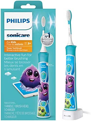 Philips Sonicare for Kids Rechargeable Electric Toothbrush, Blue HX6321/02