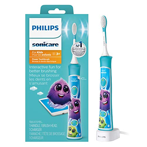 Philips Sonicare for Kids Rechargeable Electric Toothbrush, Blue HX6321/02 (Best Electric Toothbrush For The Money)