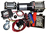 D-Rhino-Vehicle-Recover-Electric-Winch-Kit-3000-lb-Load-Capacity-Remote-12V-ATV-Towing-Trailer-Truck-SUV-Heavy-Duty