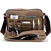 Topfox Harwish Men's Multifunctional Canvas Messenger Handbag Outdoor Sports Over Shoulder Crossbody Side Bag