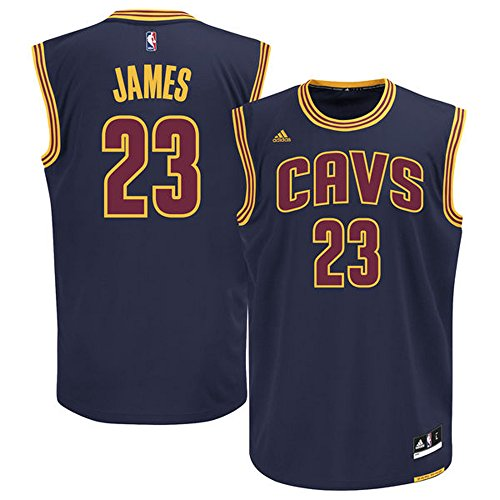 23_LeBron_James Cleveland_Cavaliers Mens Road Swingman Jersey Navy Blue color Size (Lebron James Authentic Home Jersey)