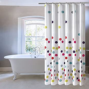Amazon.com: UFRIDAY Colorful Polka Dots Shower Curtain,Water ...