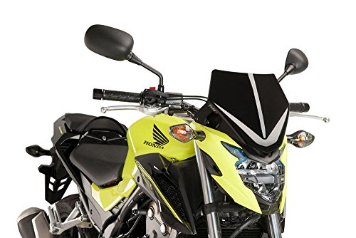 (Puig 16-19 Honda CB500F Naked Generation Sport Windscreen (Black))