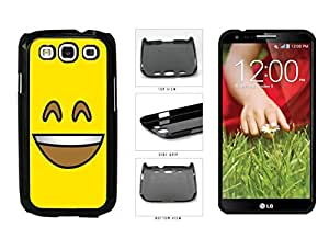 Bright Yellow Smiley Grin with Teeth Face Plastic Phone Case Back Cover Samsung Galaxy S3 I9300