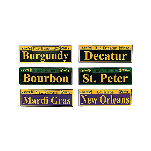 Fun Express Mardi Gras Street Signs - 6 Pieces ()