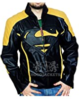 Superman Black and Yellow Leather Jacket