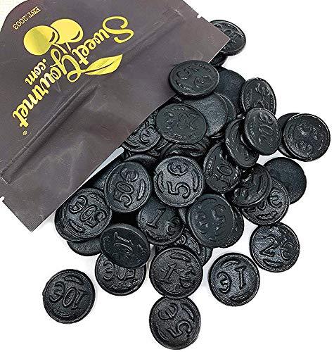 (Gustaf's Premium Dutch Licorice | Salted Licorice Coins | Bulk Candy | 1 pound (453g))