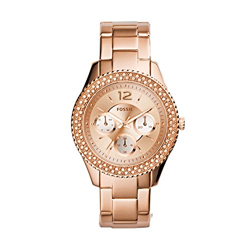 Ladies Fossil Stella Watch ES3590 With Gold Dial