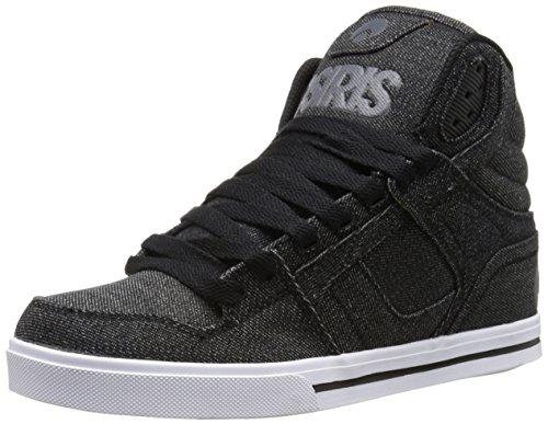 Osiris Mens Clone Skate Shoe  Denim Charcoal Black  11 M Us