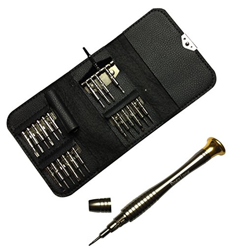 T15 Star (25in1 1.2mm 0.8mm 5 Point Star T2 T3 T4 T5 T6 T7 T8 T9 T10 T15 Torx Precision Screwdriver Wallet Set Repair Openning Tools kits for iPhone HTC LG Samsung Macbook Computer XBox Wii Digital)