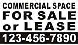 3ftX5ft Custom Printed COMMERCIAL SPACE FOR SALE or LEASE Banner Sign With Your Phone Number
