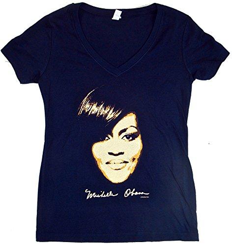 Michelle Obama Womens V-Neck Tshirt - Michelle Clothing Obama