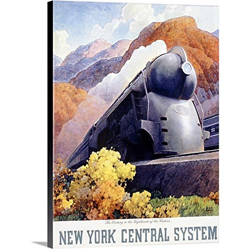 (GREATBIGCANVAS Gallery-Wrapped Canvas Entitled New York Central System,Vintage Poster, by Leslie Ragan by)