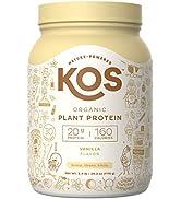 KOS Organic Plant Based Protein Powder - Vanilla Protein Powder - Gluten, Dairy amp; Soy Free Vegan ...