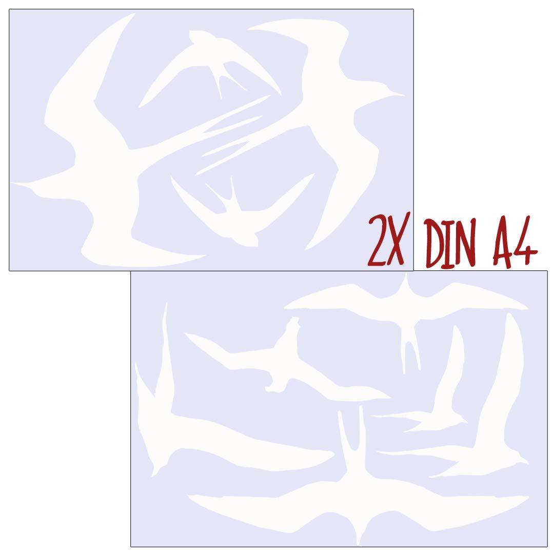 MacDecal.de VOGELSCHUTZ 10 Greifv/ögel Aufkleber Sticker Scheibenschutz SCHLAGSCHUTZ Vogel Silhouette Wintergarten Glashaus Orange